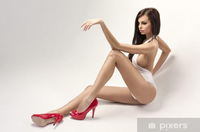 0ecbaa3d012 Fototapete Sexy Frau mit roten High Heels • Pixers® - Wir leben