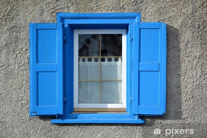 Papier peint vinyle Fenêtre d'Azur - Livigno - Vie