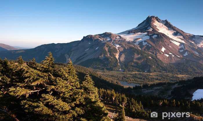 Mt. Jefferson Park Oregon Cascade Range Mountian Hiking Trail Vinyl Wall Mural - America