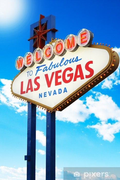 Welcome to Fabulous Las Vegas Sign Nevada Vinyl Wall Mural - Las Vegas