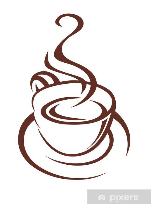 Dessin Tasse De Café Fumant papier peint doodle croquis d'une tasse de café fumant • pixers