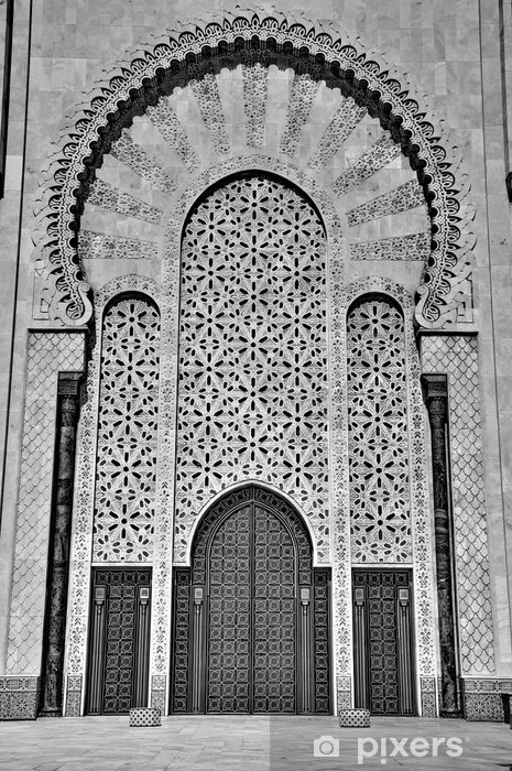 Gates of the The Hassan II Mosque, located in Casablanca is the Vinyl Wall Mural - Private Buildings