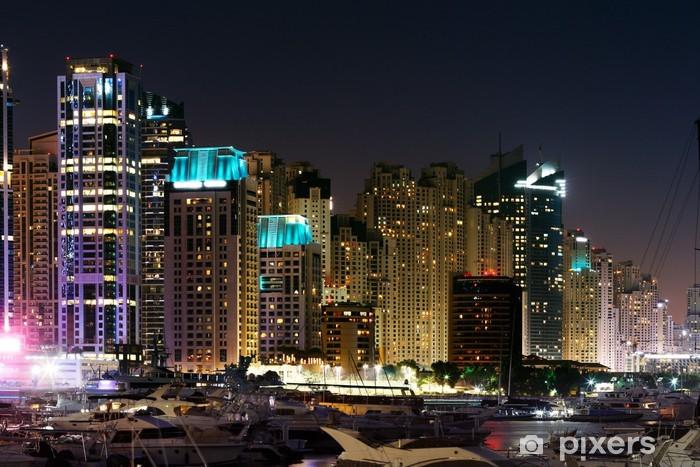 Sticker Pixerstick Dubai Marina avec JBR, Jumeirah Beach Residences, Émirats Arabes Unis - Moyen Orient
