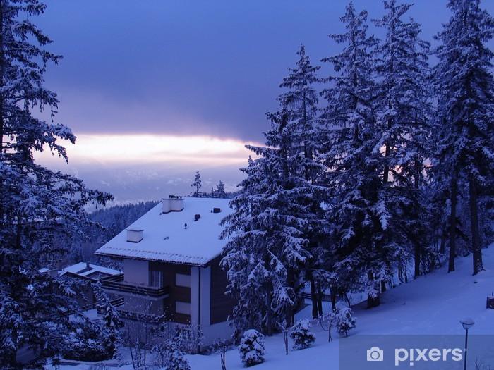 Sticker pour vitres et fenêtres Chalet de ski - Merveilles naturelles