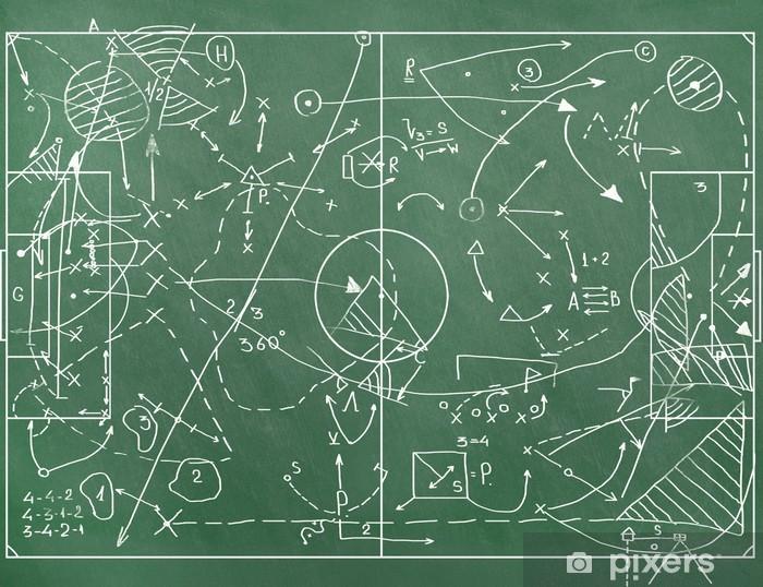 Fototapeta zmywalna Boisko do piłki nożnej z oznaczenia coachingu ustawienie w grze - Tematy