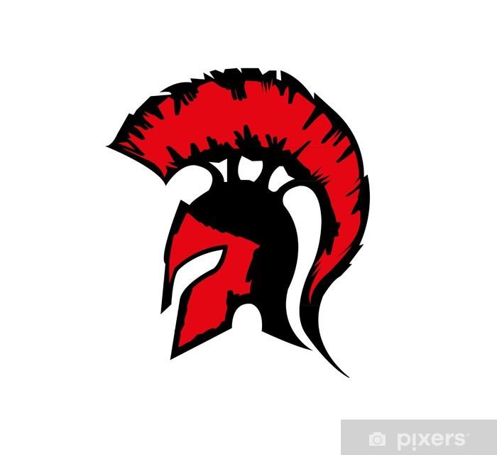 Sparta Helm Pixerstick Sticker - Anger