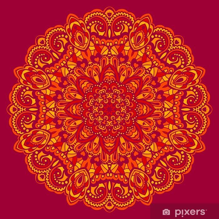 Vinilo para Armario Mandala de la flor. Elemento abstracto para el diseño - Finanzas