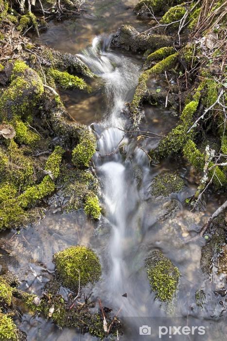 Vinyl-Fototapete Kleiner Wasserfall in der unberührten Natur - Wasser