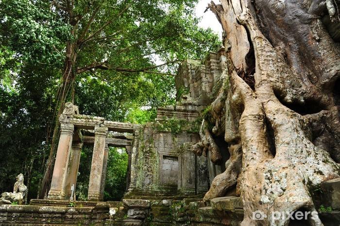 Vinilo Pixerstick Ruina del templo de Angkor, Camboya - Asia