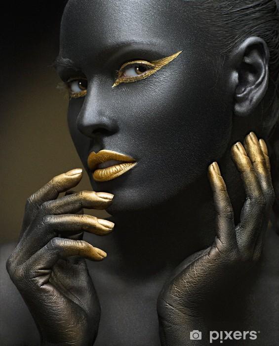 Sort guld Selvklæbende fototapet -