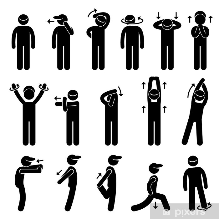 Body Stretching Exercise Poster - Individual Sports