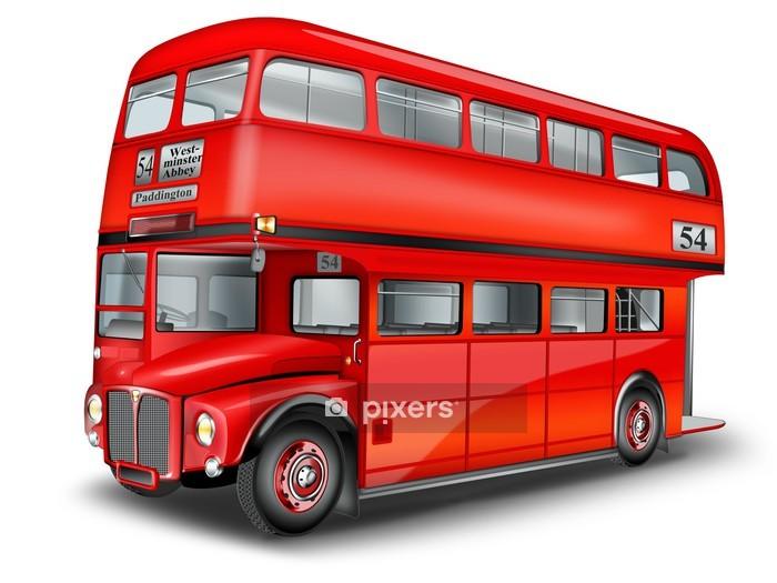 englischer Doppeldeckerbus freigestellt Wall Decal - On the Road