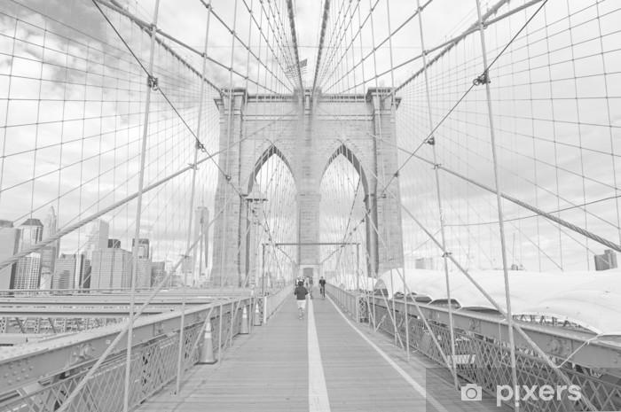 Zelfklevend Fotobehang Brooklyn Bridge New York - Thema's
