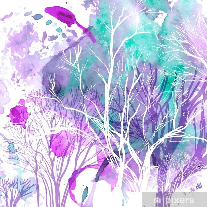 Vinilo Pixerstick Silueta abstracta de árboles - Estilos