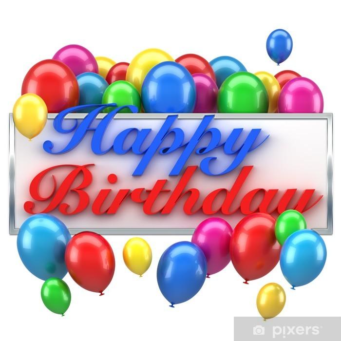 Aufkleber Happy Birthday Balloons