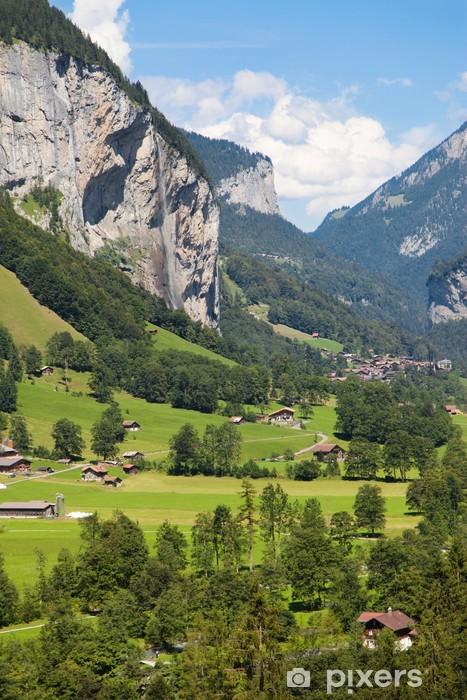 Sticker Pixerstick Lauterbrunnen Cliffs - Europe