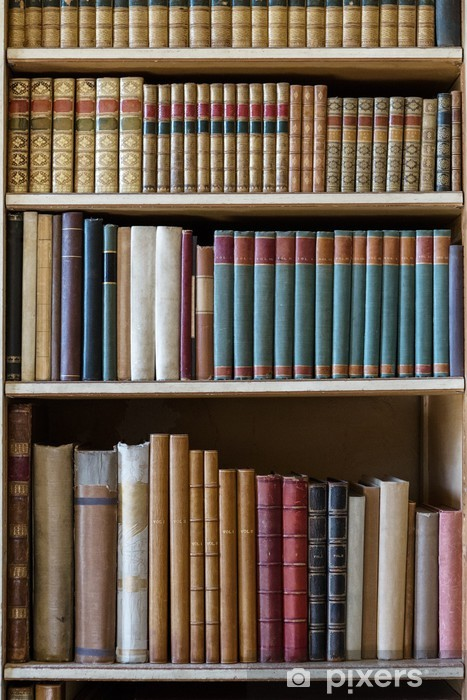 old books Pixerstick Sticker - Library
