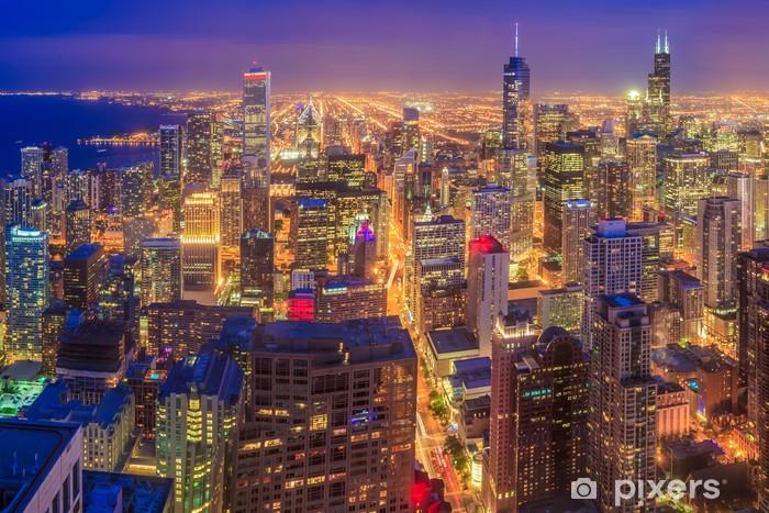 Papier peint vinyle Horizon de Chicago - Thèmes