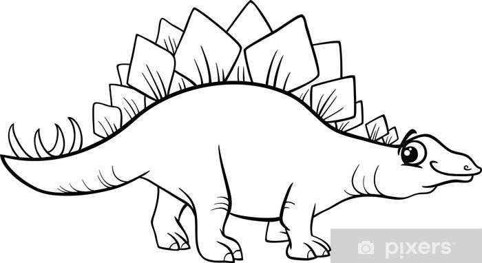 Stegosaurus Dinozor Boyama Duvar Resmi Pixers Haydi Dünyanızı