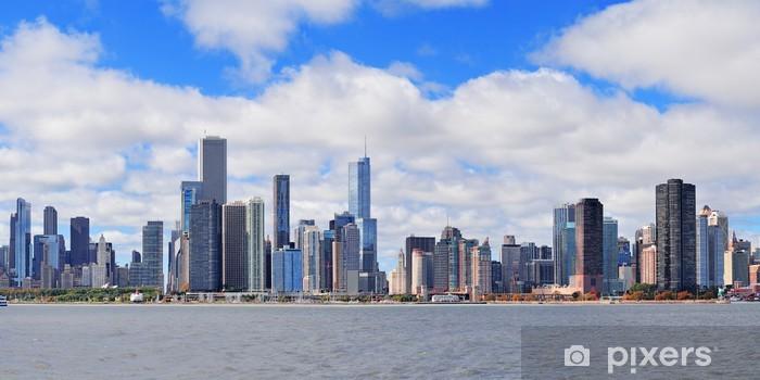 Vinyl-Fototapete Chicago Stadt städtischen Skyline Panorama - Sonstige