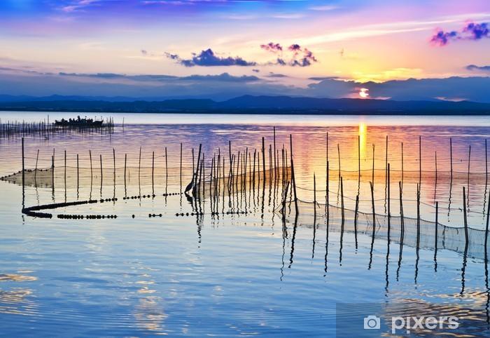 Nálepka Pixerstick El Lago de las cañas de Pesca - Prázdniny