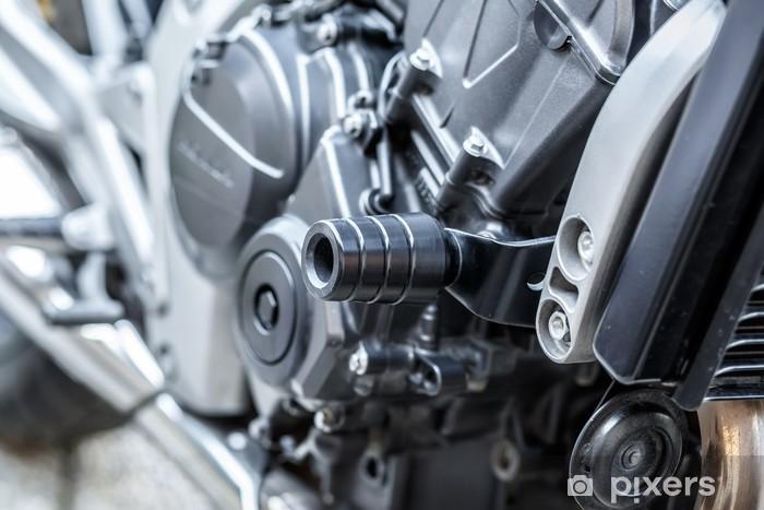 Fotomural Motor De La Motocicleta Cerca Detalle Fondo Pixers