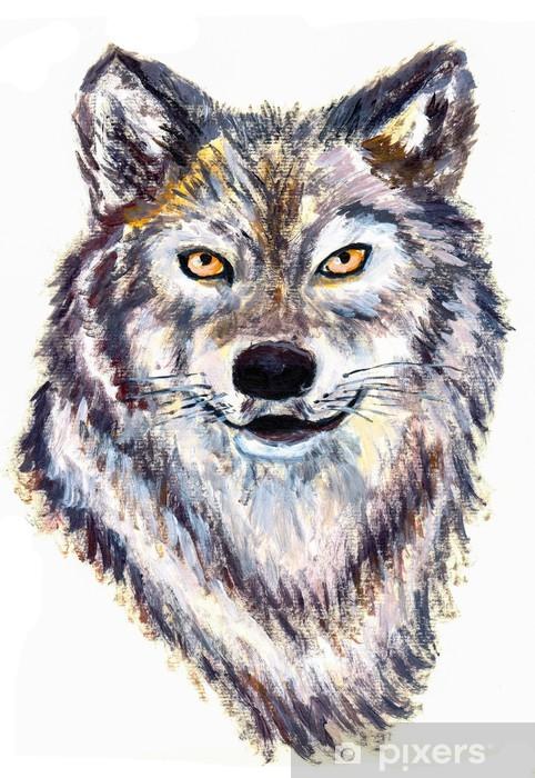 Fototapeta winylowa Głowa wilka olejny - Sztuka i twórczość