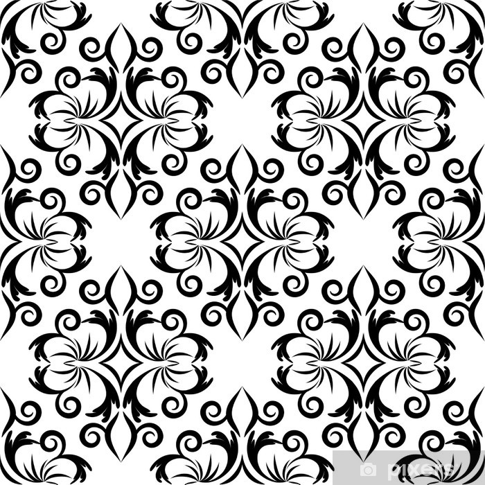 seamless wallpaper.arabesque pattern.floral background Vinyl Wall Mural - Backgrounds