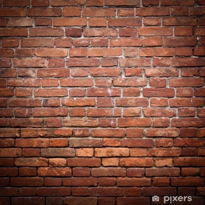 Poster Vecchio grunge texture muro di mattoni rossi - Temi