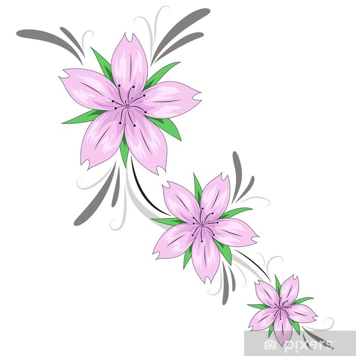 Fototapeta Winylowa Kwiat Wiśni Tatuaż Dekoracji