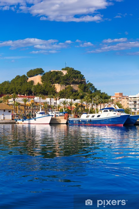 Fototapeta winylowa Denia Port z Castle Hill Prowincja Alicante Hiszpania - Wakacje