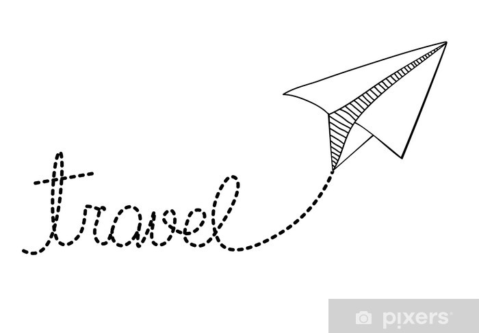 Carta da Parati Disegno aereo di carta • Pixers® - Viviamo per il ... b4dd606c92fd