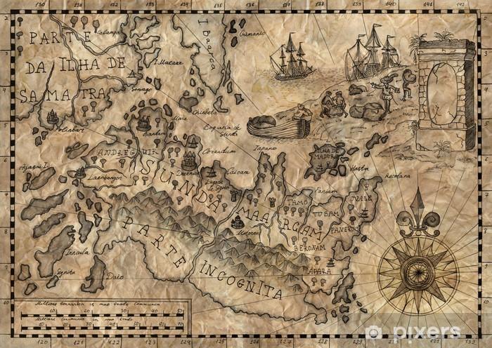 Fantasy Karte.Fototapete Karte Von Der Fantasy Welt 2