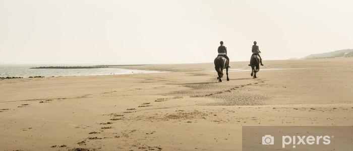 Papier peint vinyle L'équitation sur la plage tôt le matin - Saisons