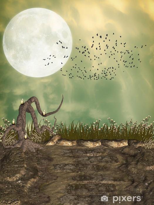 Nálepka Pixerstick Fantasy Krajina - Přírodní krásy