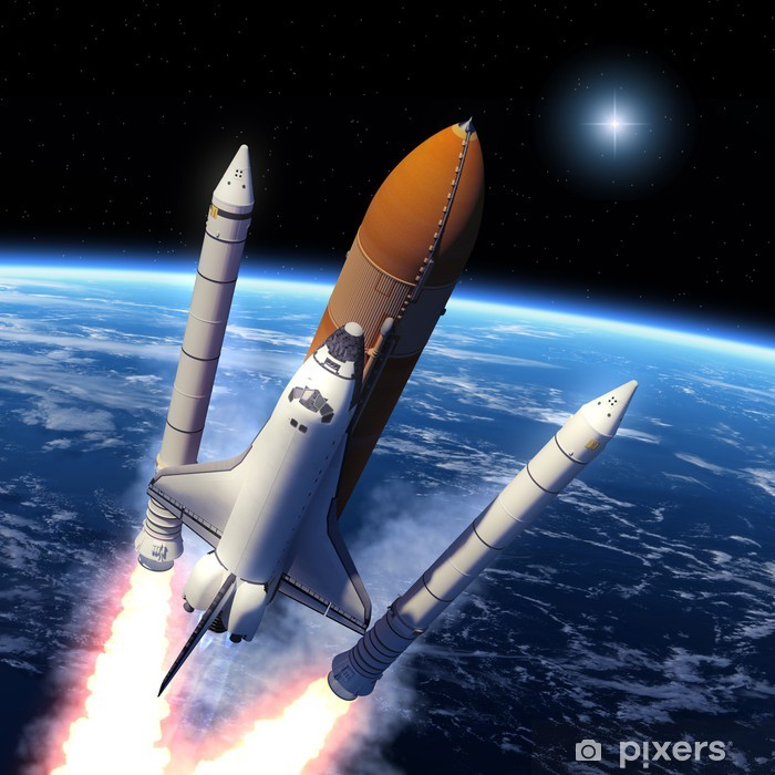 Space Shuttle Solid Rocket Boosters Separation Vinyl Wall Mural - Themes