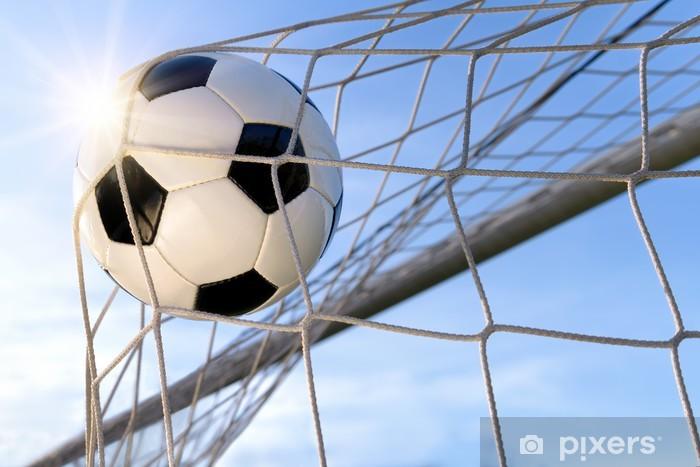 Fußball Treffer, mit sonnigem Himmel Vinyl Wall Mural - Football