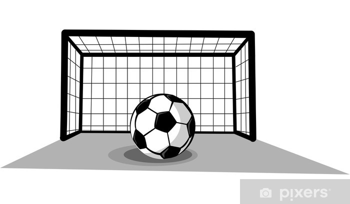 Fototapete Fussballtor Mit Ball