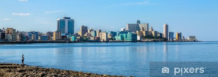 Naklejka Pixerstick Havana Malecon - centrum i Vedado. panorama Hawana jest. - Tematy