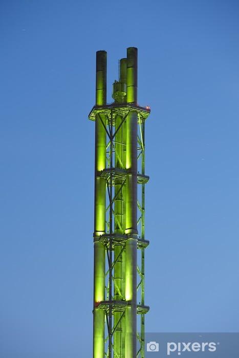 Fototapeta winylowa Duisburg - Stadtwerketurm wieczór - Ekologia