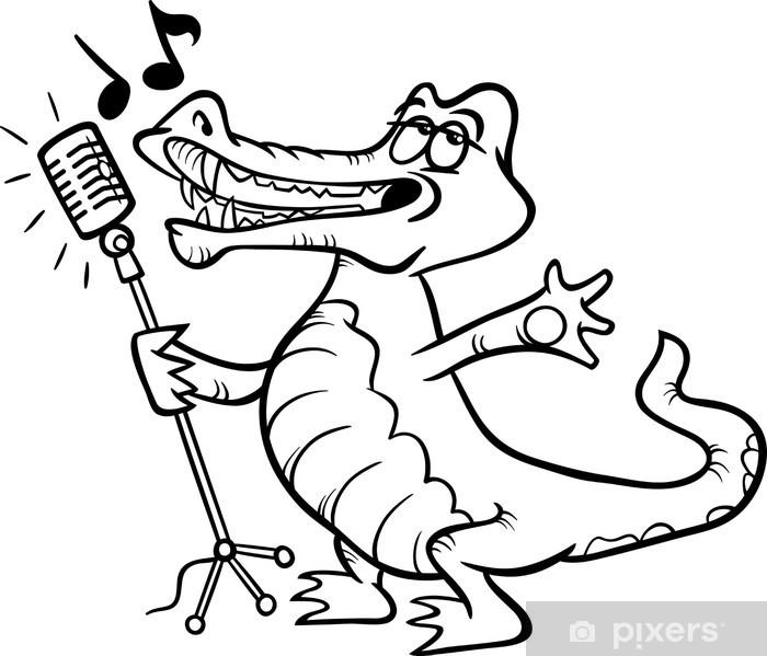 fototapete singen krokodil malvorlagen • pixers®  wir