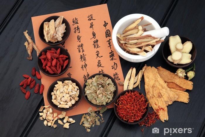 Papier peint vinyle Medecine chinoise - Santé et médecine