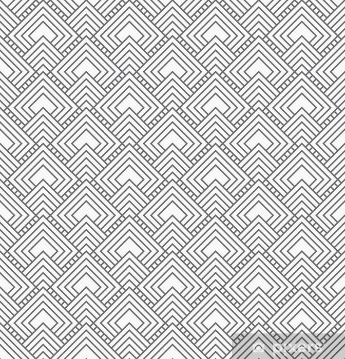 Aufkleber Grau quadratischen Fliesen Muster-Wiederholung Hintergrund -  Pixerstick