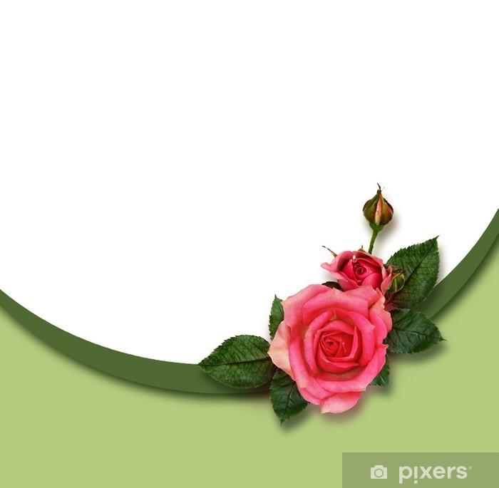 Vinylová fototapeta Rose květiny složení a dovolená rám - Vinylová fototapeta