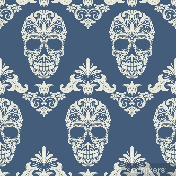 Nálepka Pixerstick Skull Swirl dekorativní vzor - Život