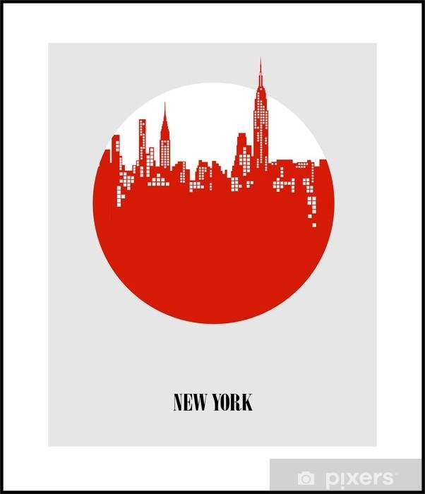 Sticker Pixerstick New York - The Big Apple. Affiche - Thèmes