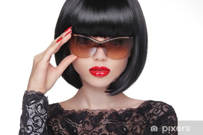 più recente 4c4a8 50e9f Adesivo Ritratto di estate di una giovane donna attraente con occhiali da  sole, essere Pixerstick