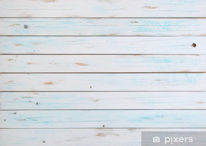 White wood backdrop Vinyl Wall Mural - Themes