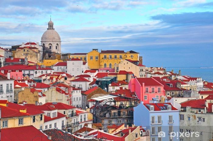 Colorful houses of Lisbon Vinyl Wall Mural - European Cities