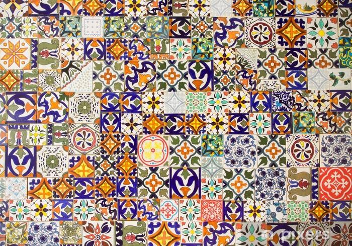 Vinilo Pixerstick Patrones de baldosas cerámicas - Azulejos